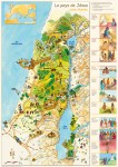 Le pays de J�sus � carte illustr�e (version pli�e)